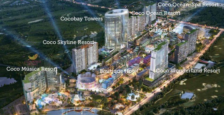 Phối cảnh tổng thể dự án tổ hợp Cocobay Đà Nẵng