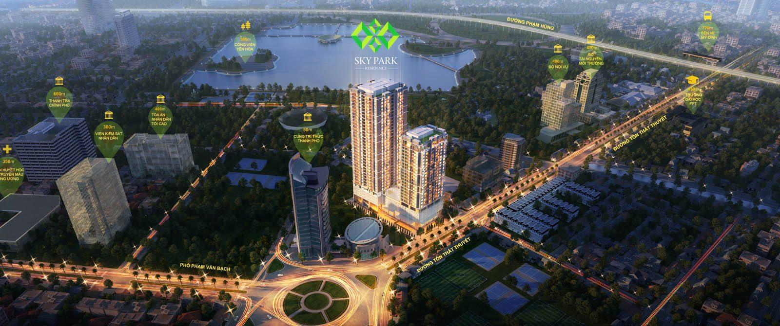 Sky Park Residence là dự án chung cư duy nhất trên tuyến phố Triệu đô Tôn Thất Thuyết