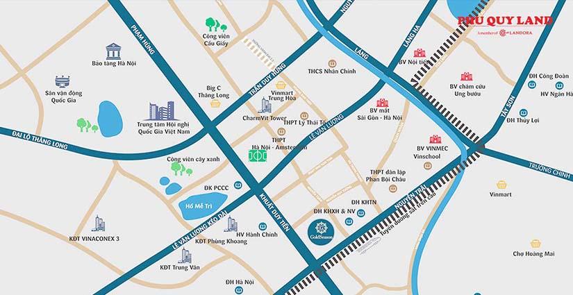 5 Seasons tọa lạc tại vị trí đắc địa của trung tâm quận Thanh Xuân