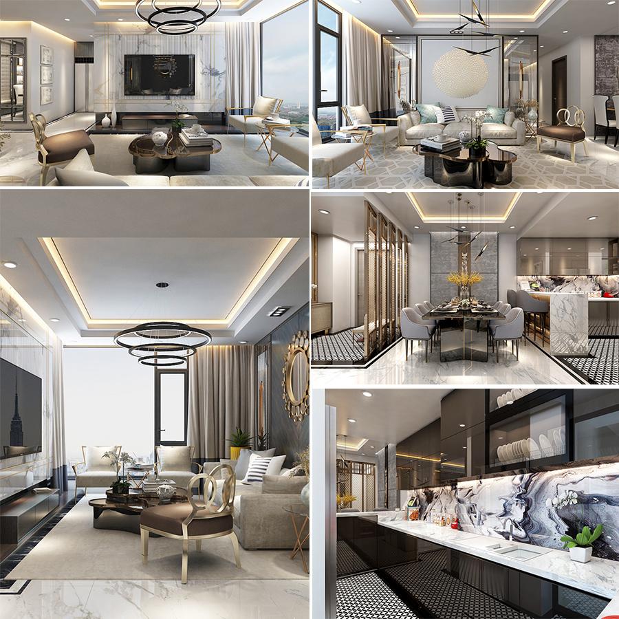 Phong cách thiết kế nội thất theo phong cách hoàng gia trong các căn hộ tại Sunshine