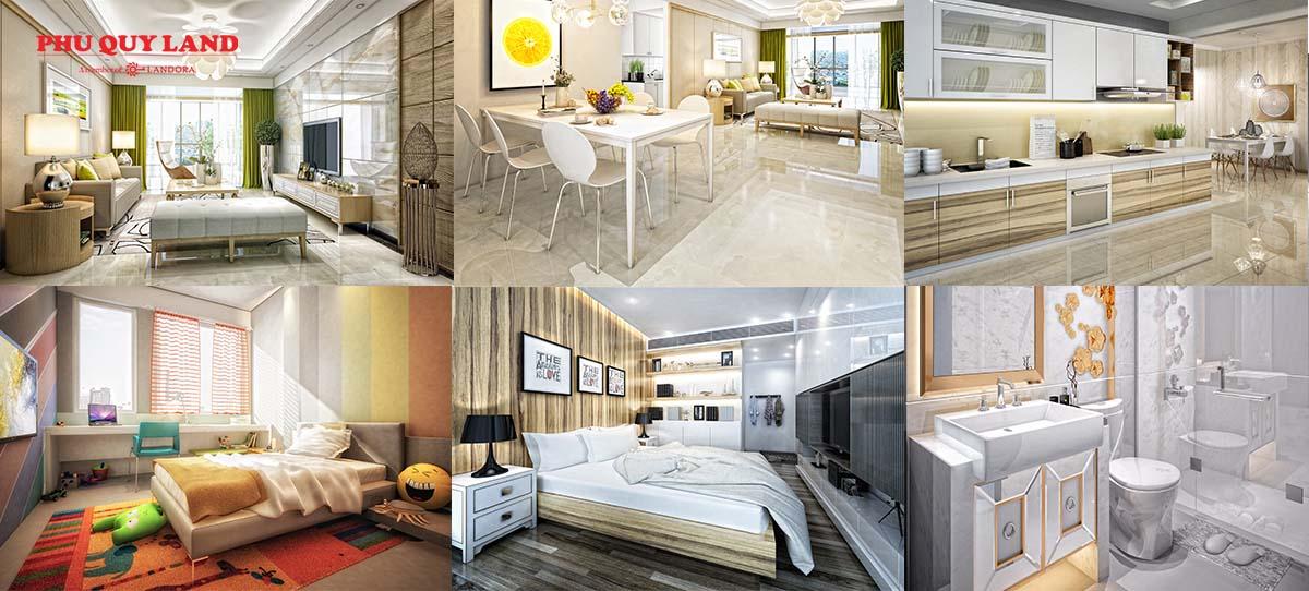 Thiết kế căn hộ tại 5 Seasons theo phong cách Mỹ hiện đại, hướng đến không gian mở, tối ưu ánh sáng tự nhiên, kết hợp nội thất sang trọng, tinh tế tạo cho căn hộ sự tiện nghi, thoải mái.