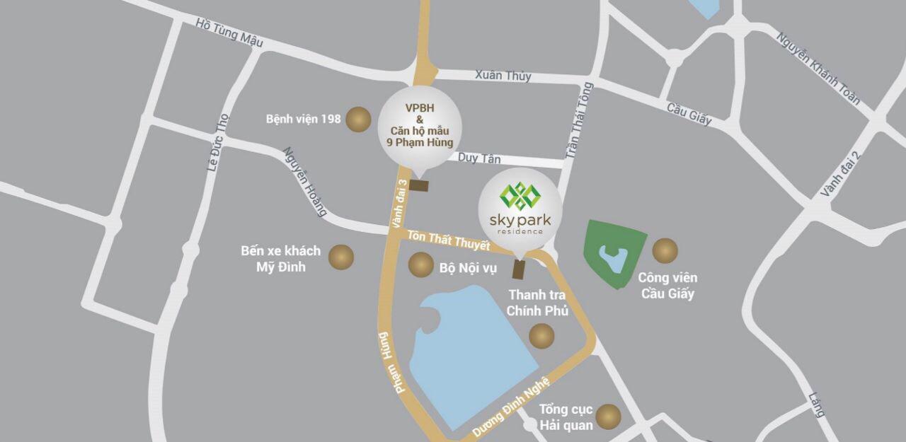Vị trí độc tôn của dự án trên tuyến phố Tôn Thất Thuyết
