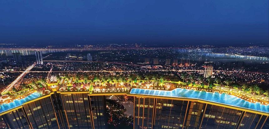 Dự án thu hút những cư dân đẳng cấp với bể bơi tràn trên nóc tòa nhà, dịch vụ tiện ích bể bơi như resort 5 sao