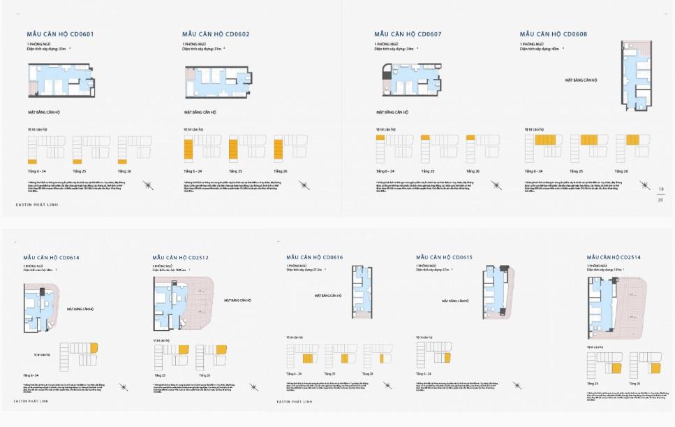 Diện tích các căn Condotel tại dự án rất linh hoạt tạo điều kiện cho khách hàng lựa chọn