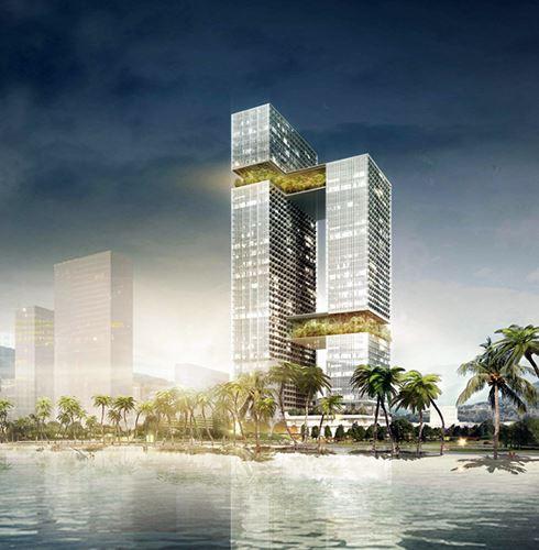 Phối cảnh dự án Hoa Sen Tower Quy Nhơn do Công ty Group8Asia (Thụy Sĩ) thực hiện