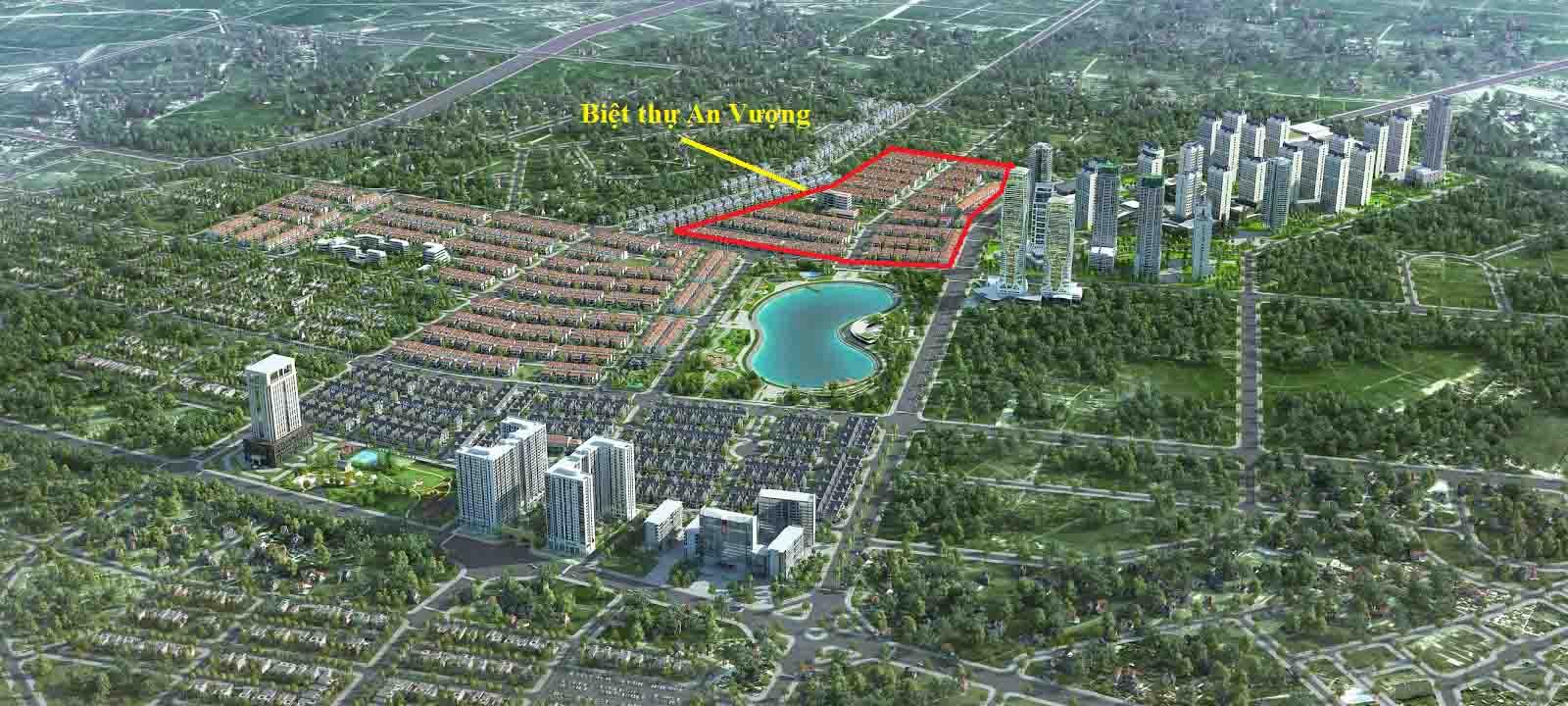 Vị trí biệt thự An Vượng trong khu đô thị Dương Nội