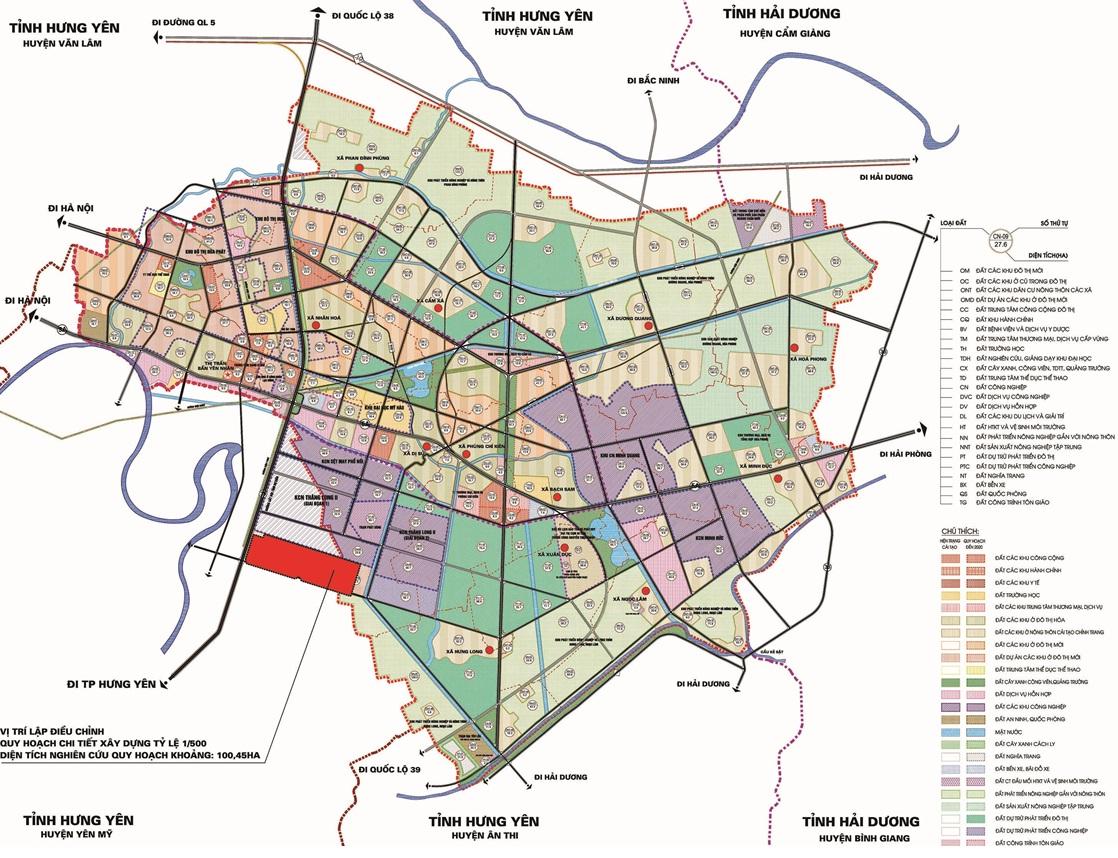 Sơ đồ vị trí khu đô thị V - Green City
