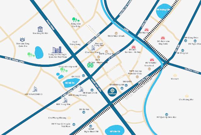 Bản đồ vị trí của Dự án TNR GoldSeason