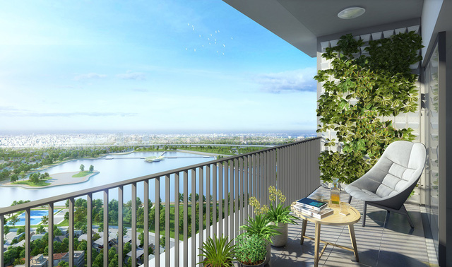 Thu trọn tầm mắt vẻ đẹp thành phố từ ban công căn hộ Sky Park Residence
