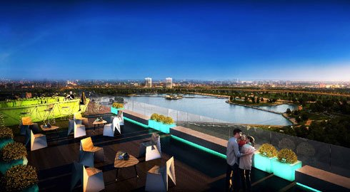 Tại Sky Park Residence, khách hàng có thể thượng ngoạn cảnh đẹp view hồ từ mọi góc nhìn