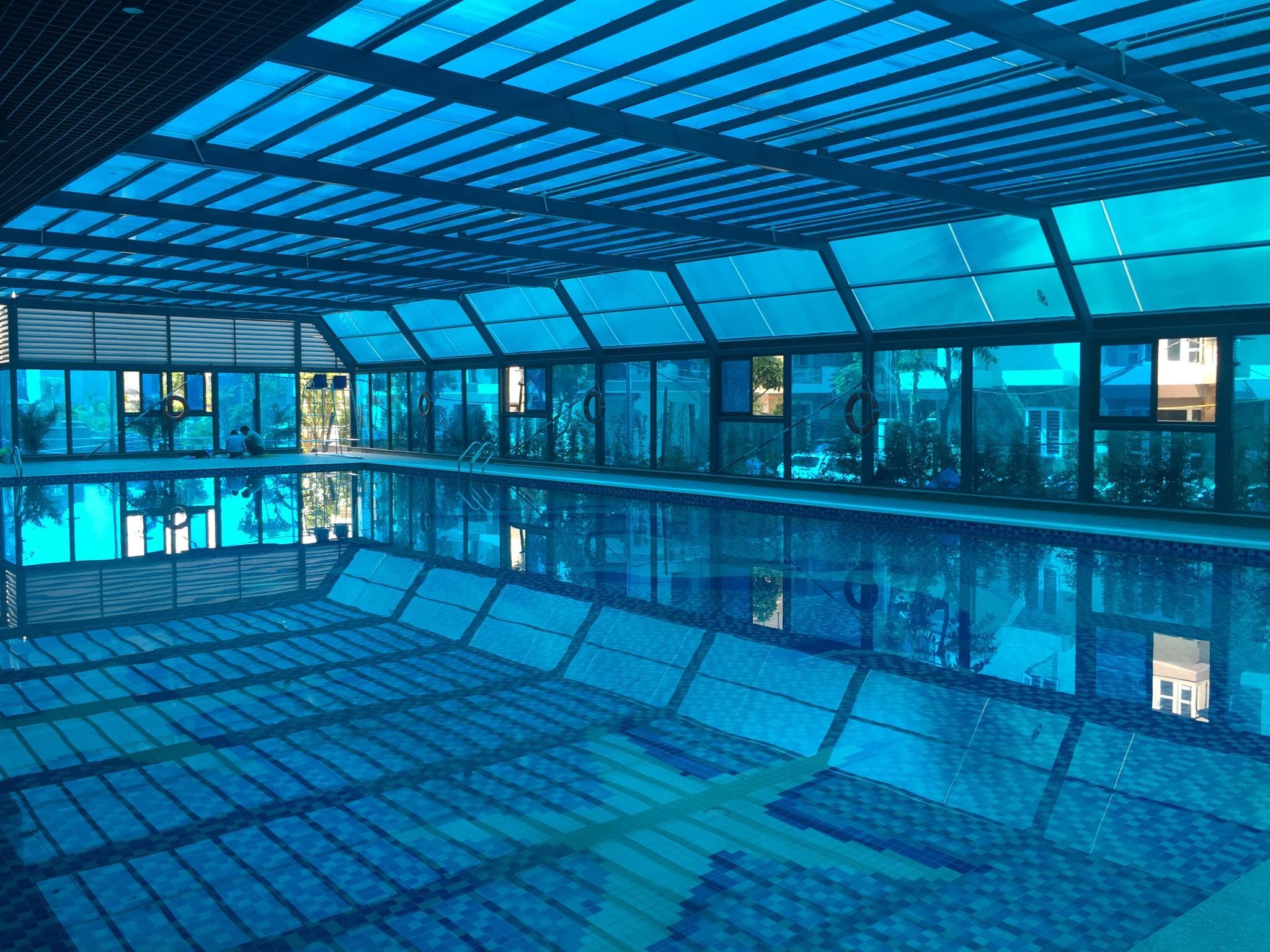 Dự án có 2 bể bơi bốn mùa tại tòa CT1 và CT3. Các bể bơi đều đã hoàn thiện và chuẩn bị đưa vào phục vụ các cư dân.