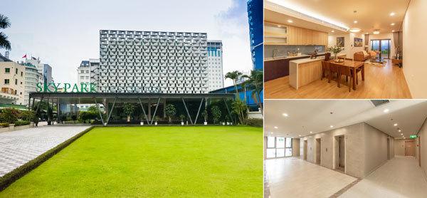 """Để """"mục sở thị"""" tổ ấm tương lai tại Sky Park Residence, khách hàng có thể tới nhà mẫu dự án tại số 9 Phạm Hùng hoặc thăm thực tế tầng điển hình của dự án tại số 03 Tôn Thất Thuyết, quận Cầu Giấy."""