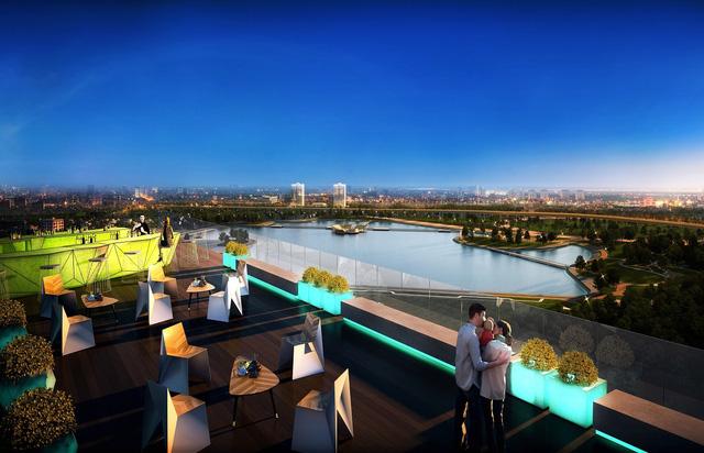 Sky Bar – Nơi thu trọn vẻ đẹp Hà Nội trong một ánh nhìn.