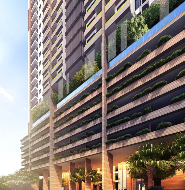 Cư dân FLC Green Apartment tận hưởng không gian sống riêng tư hòa quyện cùng thiên nhiên.
