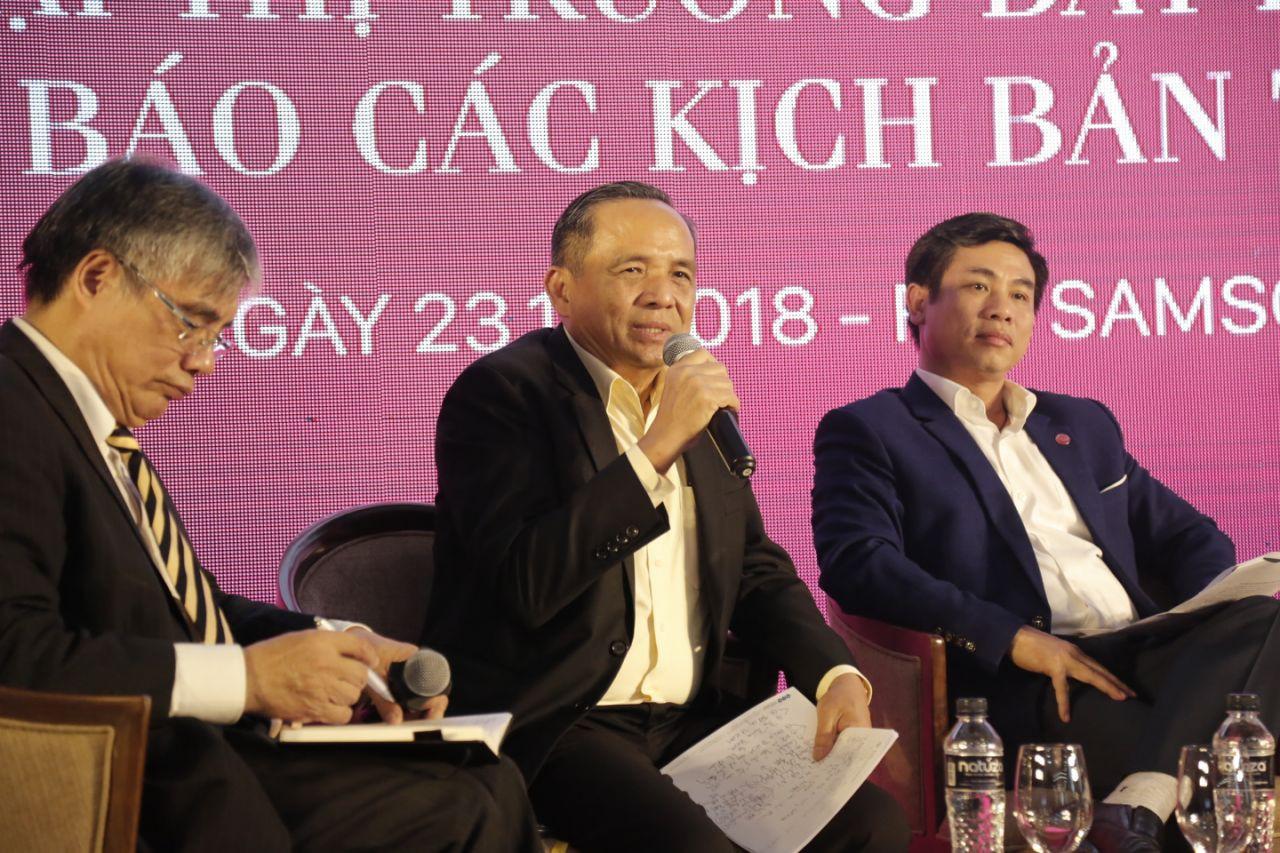 """Ông Lê Hoàng Châu, Chủ tịch Hiệp hội Bất động sản Tp.HCM: """"Do năm 2018, thị trường sụt giảm nguồn cung, nên tình trạng thiếu nguồn cung sản phẩm bất động sản sẽ tiếp tục xảy ra trong năm 2019""""."""