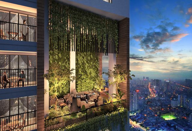 Vườn chân mây tại FLC Green Apartment