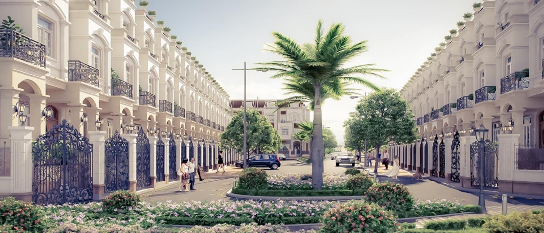 Phối cảnh thiết kế các căn biệt thự liền kề, Shophouse của dự án