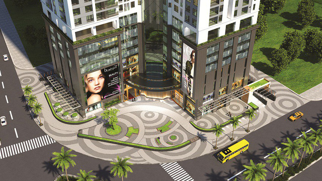 Golden Park Tower tiếp giáp 3 mặt đường lớn