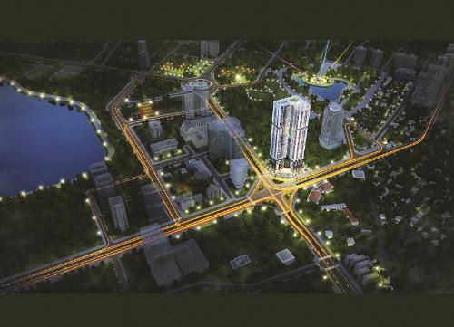Cầu Giấy là quận tập trung nhiều dự án bất động sản.