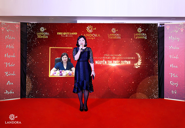 Bà Nguyễn Thị Trúc Quỳnh – Tổng Giám đốc Landora Group phát biểu trong sự kiện