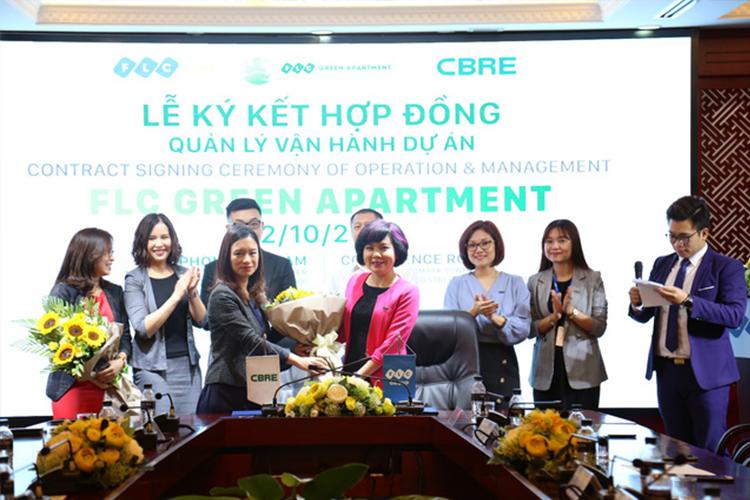 CBRE sẽ chính thức vận hành và quản lý FLC Green Apartment.