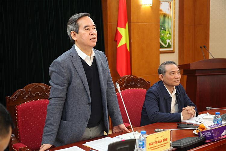 Trưởng Ban Kinh tế Trung ương Nguyễn Văn Bình phát biểu chỉ đạo tại phiên họp Ban Chỉ đạo Trung ương tổng kết 15 năm thực hiện Nghị quyết số 33 của Bộ Chính trị khóa IX về xây dựng và phát triển thành phố Đà Nẵng, ngày 10/12/2018.