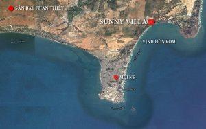 Vị trí dự án Sunny Villa.
