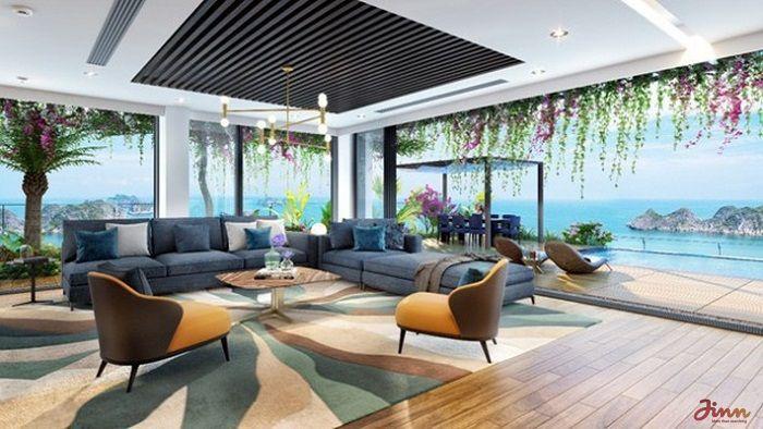 Phòng khách view biển