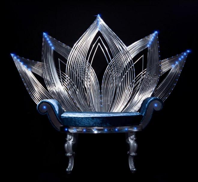 Lộ diện ghế đăng quang, quyền trượng và vương miện Hoa hậu Thế giới VN
