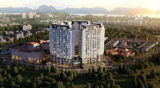 Phối cảnh dự án chung cư Dragon Castle Hạ Long