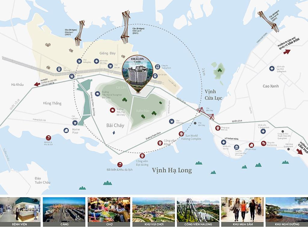 Vị trí dự án chung cư Dragon Castle Hạ Long Quảng Ninh