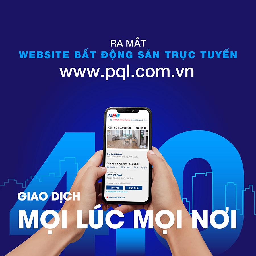 Phú Quý Land chính thức ra mắt Website bất động sản trực tuyến PQL.COM.VN